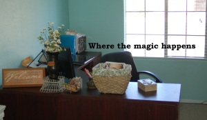 let me rephrase that desk where the magic happens